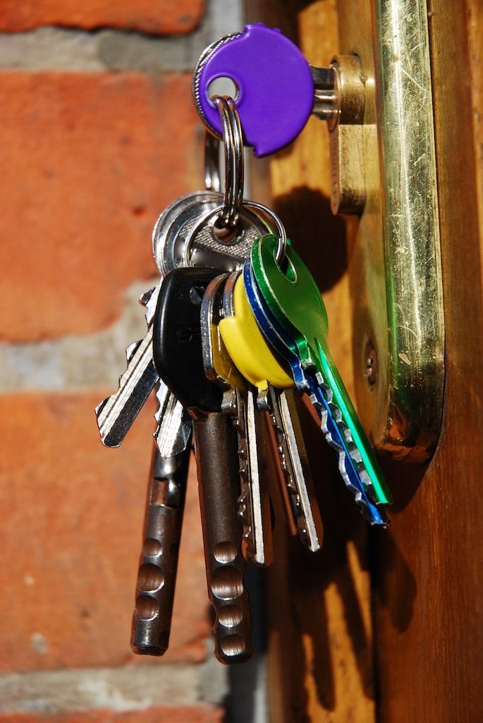 Set of Keys in a Door Lock