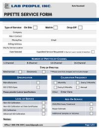Pipette Service Form